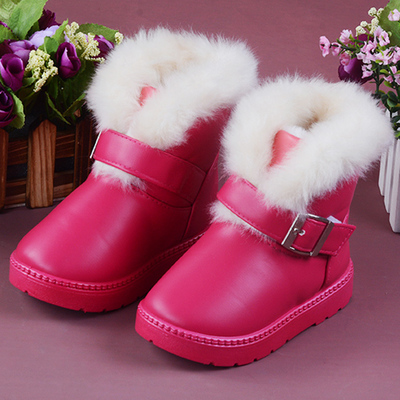 The new winter shoes baby boy cotton padded shoes boots pu leather boots girls boots girls snow boots children free shipping