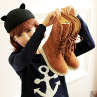 磨砂毛绒中筒靴female ankle women shoes snow boots winter 44_250x250.jpg