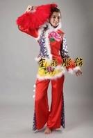 春节秧歌服女装扇子舞广场舞台演出服古典舞蹈现代舞秋冬表演服饰
