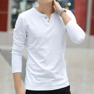 boys long sleeve T-shirt men v neck t-shirt man cotton tops