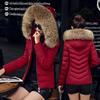 反季秋冬大毛领棉衣女短款加厚大码羽绒棉服棉袄外套