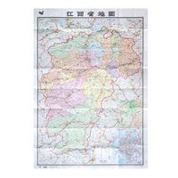 江西省地图 2017新版江西地图 南昌市地图 盒装纸质 行政交通地图 1.1*0.8米 整张 折叠型 中国分省系列地图
