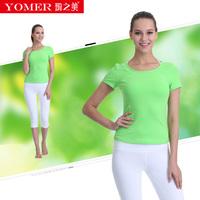瑜之美 春夏瑜伽服套装运新款三件套健身舞蹈跳操服女 短袖瑜伽服