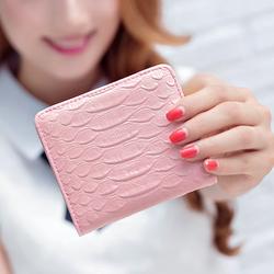 小钱包女短款 韩版学生两折零钱包迷你折叠卡包简约女士搭扣钱夹