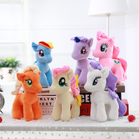 正版My Little Pony小马宝莉毛绒玩具公仔抱枕生日礼物布娃娃女