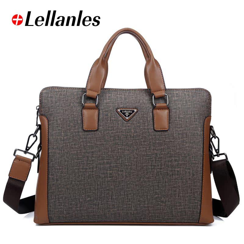 莱伦莱斯男包商务包手提包单肩包男公文电脑包斜挎包背包男士包包