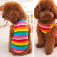 新款彩虹宠物背心衣服 宠物夏季衣服 宠物服装