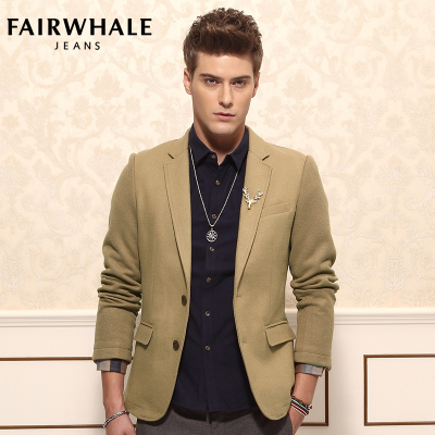 MaKeHua Fussy woolen clothes Men England Slim Men leisure suit 2014 new winter coat thick