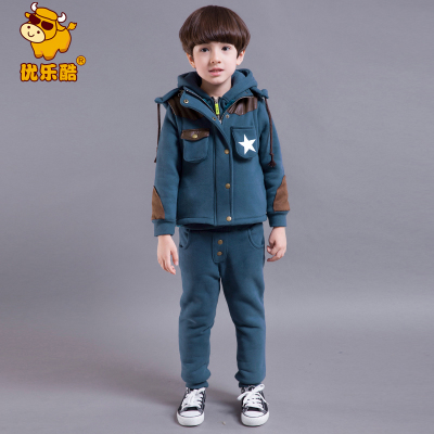 Gifted musicians Cool Kids Korean children winter thick three-piece suit baby boys winter 2014 60079