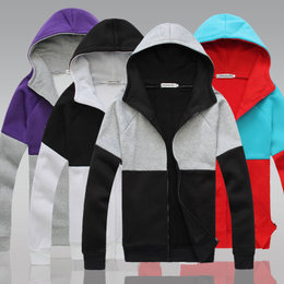 秋男士休闲开衫连帽卫衣men sport jacket Cardigan hoodie tops