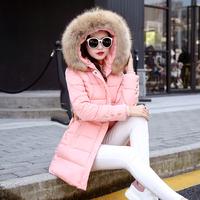 冬季新款女款棉衣中长新款连帽修身羽绒棉服大码棉袄加厚外套学生