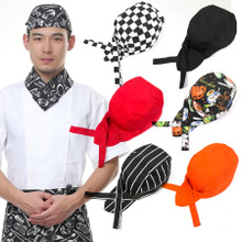Western food Korean Japanese waiter working cap pirates hat Hotel chefs in baotou hat ribbon hat scarf