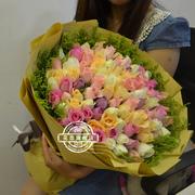 99朵红玫瑰同城速递北京上海天津济南南京西安长春广州深圳鲜花店
