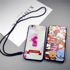 艾卡仕 iphone6手机壳 苹果6s plus防摔手机套软壳磨砂挂绳男女新
