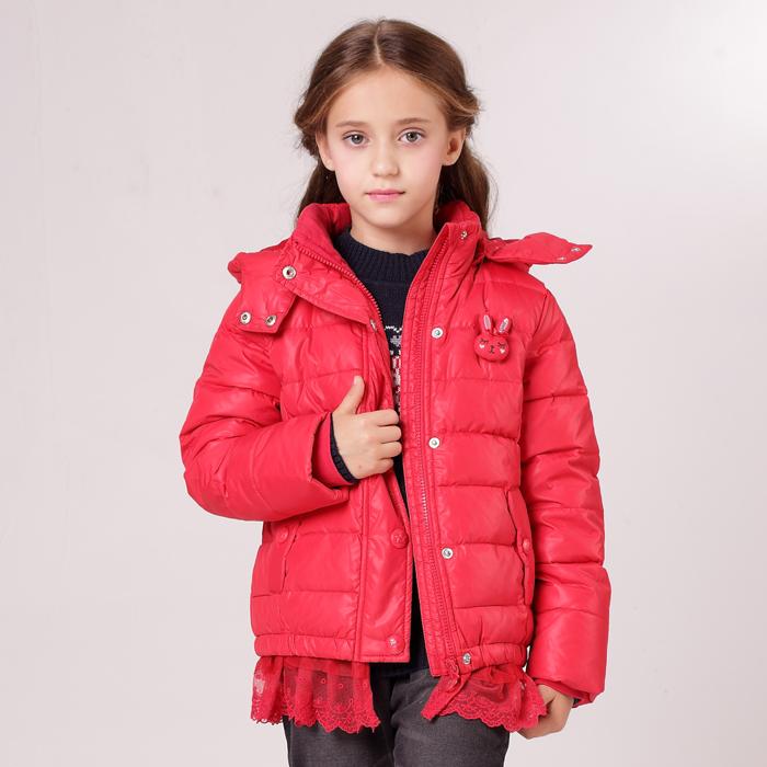 安奈儿女童装 超短款羽绒服 AG345544 新款 正品冬装