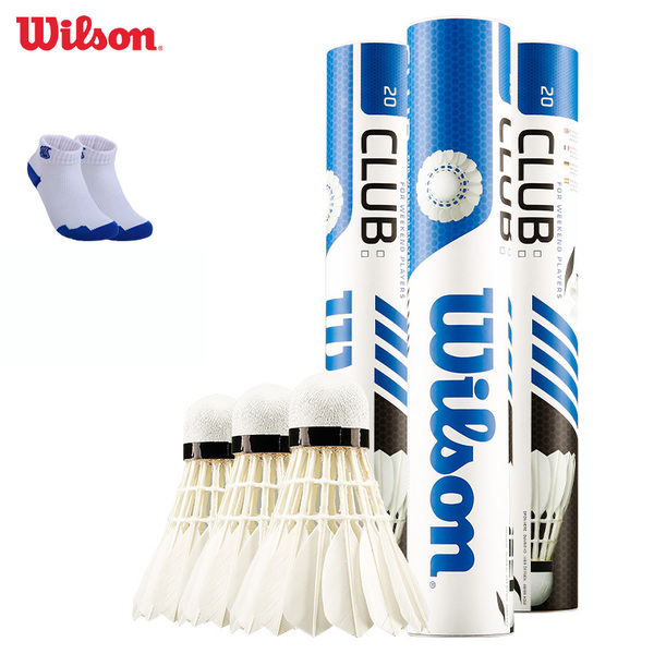 A cylinder shipping authentic badminton Special WILSON Wilson durable duck feather flight stability ball 12 loaded