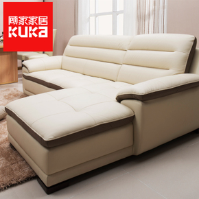 【预售】顾家家居现代头层牛皮真皮艺沙发组合沙发客厅沙发舒米
