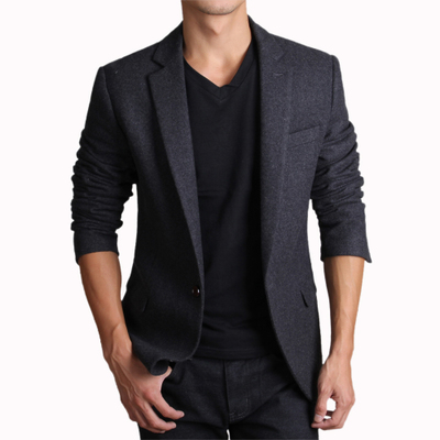 Free shipping 2014HLI winter thick wool men's suit leisure suit casual Slim wool suit