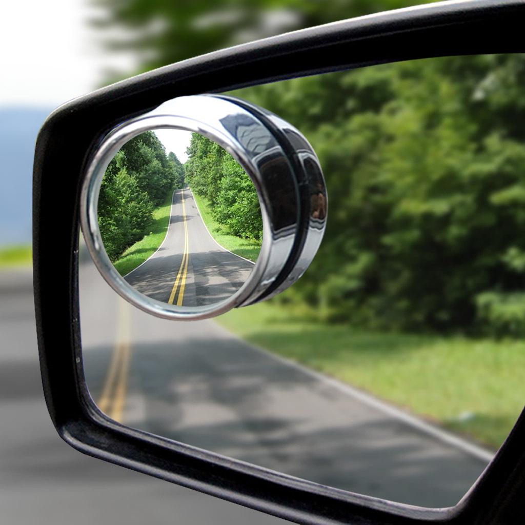 汽车倒车镜后视镜小圆镜盲点广角镜车用可调节辅助镜反光镜高清晰