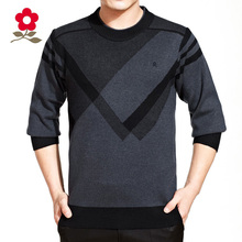 2014 autumn/winter montagut men's long sleeve T-shirt wool Tide sets more men's round collar knitting T-shirt