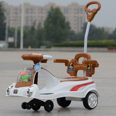 The new children's authentic shilly car with music lights guardrail putter swing car slippery car Specials more provincial shipping