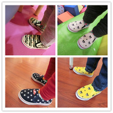 Private canvas shoes low tide brand mikihouse help baby cartoon printed canvas shoes casual shoes a pedal