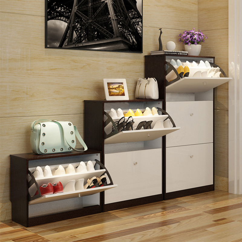 蔓斯菲尔鞋柜简约现代超薄鞋柜大容量欧式翻斗鞋柜简易玄关门厅柜