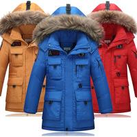男童羽绒服中长款加厚新款中大童儿童冬装外套韩版潮胖男孩白鸭绒