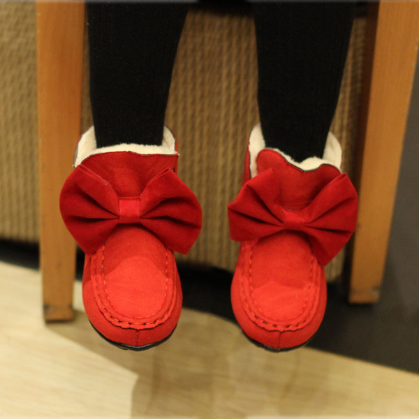 2014 winter new short boots warm cotton-padded shoes girls snow boots children's shoes, baby shoes Korean princess