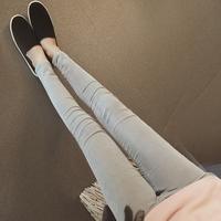 2015冬季新品女装长裤女裤小脚裤铅笔裤灯芯绒外搭裤九分学生潮个