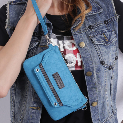 Phone mini clutch bag diagonal packet waterproof nylon handle casual shoulder Messenger dual-clutch purse