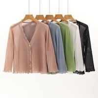 薄开衫镂空宽松针织衫