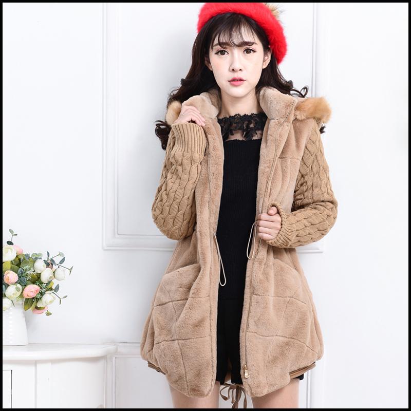 毛绒外套 女 韩版_冬季女装新款韩版开衫可爱毛毛外套女中长款毛绒外套学生保暖卫衣