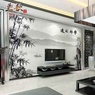 瓷砖背景墙客厅书房电视背景墙瓷砖精雕简约3D雕刻中式 宁静致远