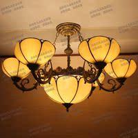 蒂凡尼吊灯 欧式灯北欧田园多头米黄客厅灯具卧室灯温馨餐厅灯饰