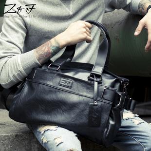 男包单肩包手拿斜挎包手提包旅行包男士包2017潮软皮