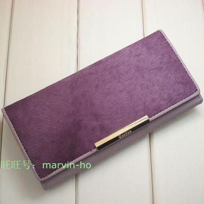Horsehair leather wallet genuine Gao Fan Gaofan girls with disabilities long paragraph wallet clutch wallet gift multicolor