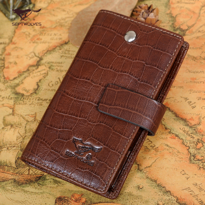 2014 new seven wolves genuine leather men's fashion leather key fob key package car key cases