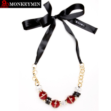 Europe and the United States of big shop sign MARNI mani 2014 new crystal beads lace joker adornment necklace female clothing accessories