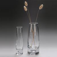 娜祺 收口透明玻璃花瓶 简约加厚高白料玻璃花瓶 包邮