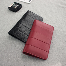 2015 new products in Europe and the wind thin cowhide leather spell with long passport wallet bag package documents by men and women