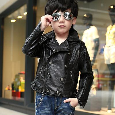 A lot of children's clothing boy leather 2014 Hitz children baby jacket leather coat jacket tide