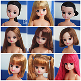 Japan genuine baby doll Licca Rieger head over a variety of options to change the makeup limit from time to time update