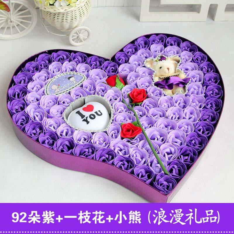 创意生日礼物女生送女朋友闺蜜老婆女友特别浪漫圣诞节情人香皂花图片