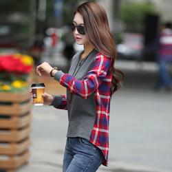 2015秋季韩版女装长袖t恤女上衣女装中长款宽松打底衫小衫女冬潮