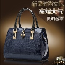 2014 new tide female sumptuous dinner lady handbag crocodile single shoulder bag bag, paint female bag