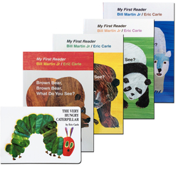 卡爷爷Eric Carle: brown bear very hungry caterpillar 5本绘本