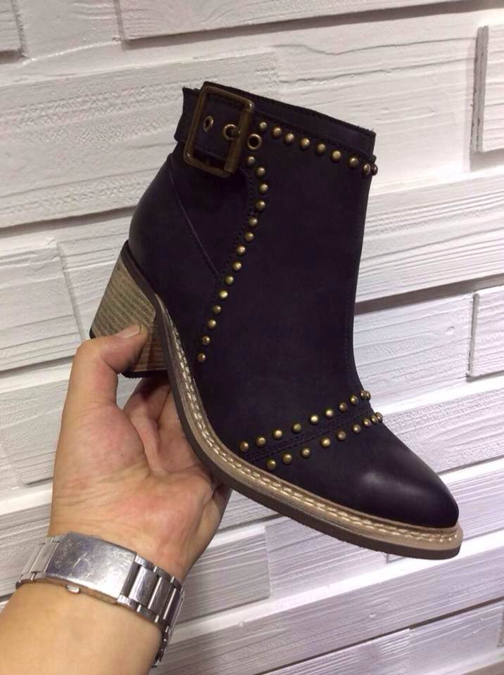 2014 new rivet punk style home Carp Ms. leather boots