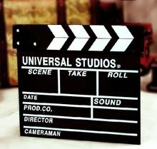 Two packages mailed director board film clappers work sheet slates movie playing board 28 * 30 cm