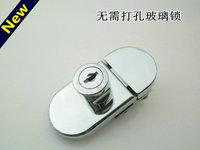 特价德国海得乐玻璃柜门锁408-2双开玻璃门锁